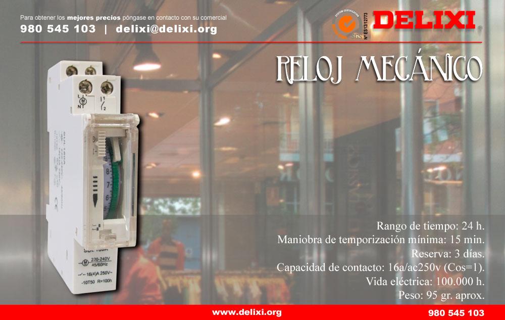 DELIXI. Reloj mecánico de un módulo