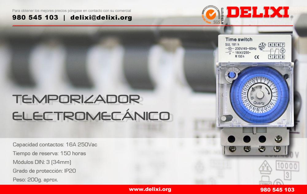 DELIXI. Temporizador electromecánico